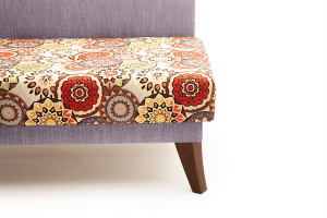 Двуспальный диван Парус-2 с опорой №11 History Summer + Orion Lilac Ножки