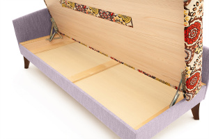 Двуспальный диван Парус-2 с опорой №11 History Summer + Orion Lilac Ящик для белья