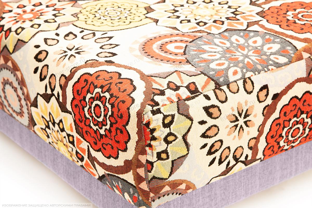 Двуспальный диван Парус-2 с опорой №11 History Summer + Orion Lilac Текстура ткани