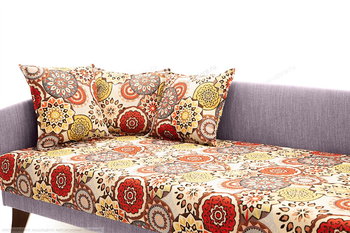 Двуспальный диван Парус-2 с опорой №11 History Summer + Orion Lilac Подушки