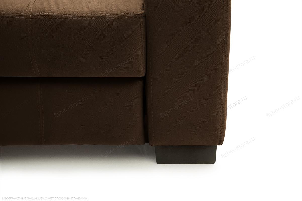 Прямой диван Берлин-2 Maserati Brown Ножки