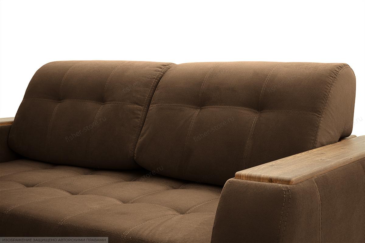 Прямой диван Берлин-2 Maserati Brown Подушки