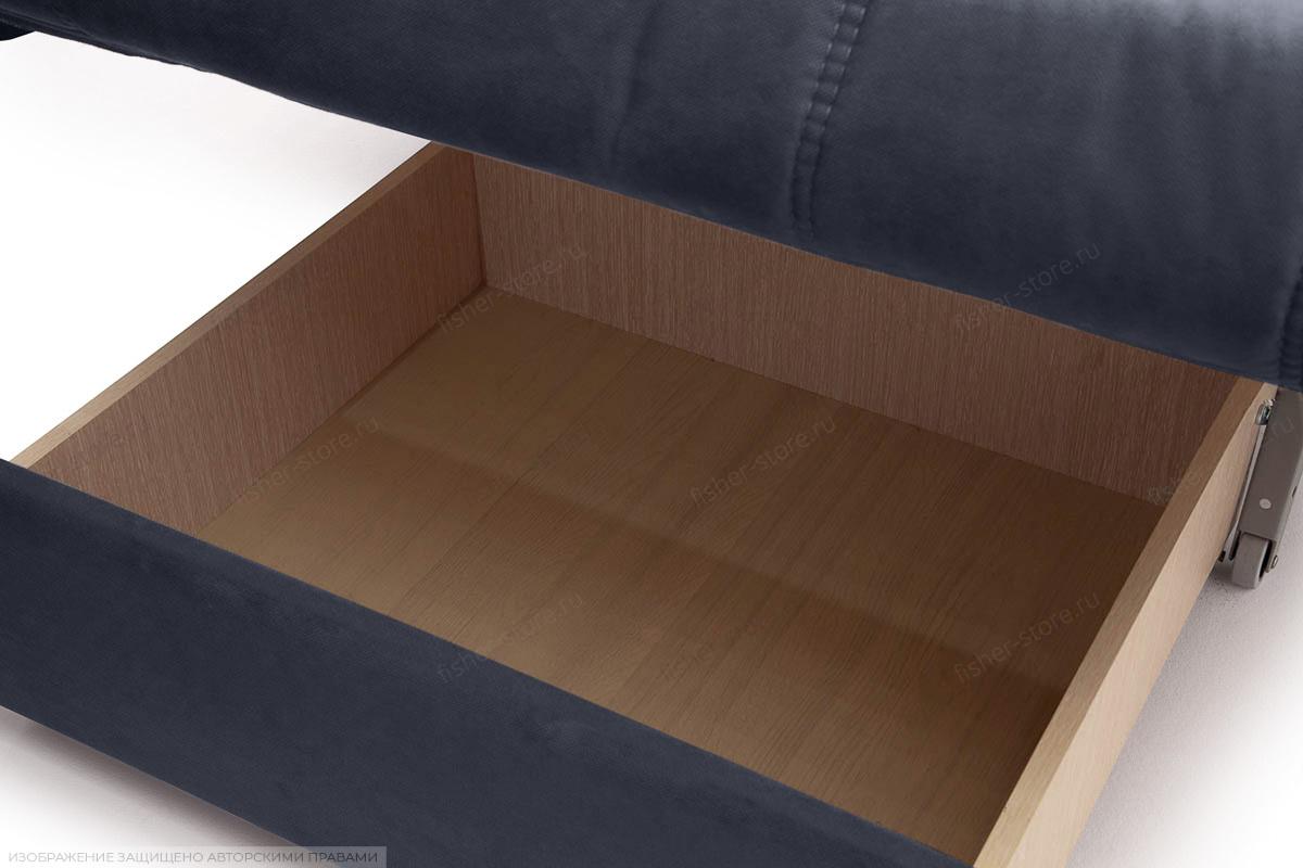 Прямой диван Виа-6 Amigo Navy Ящик для белья