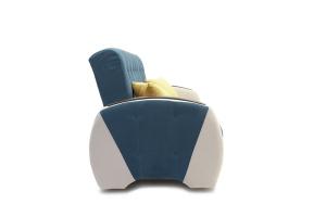 Прямой диван Вито-4 Maserati Blue + White Вид сбоку