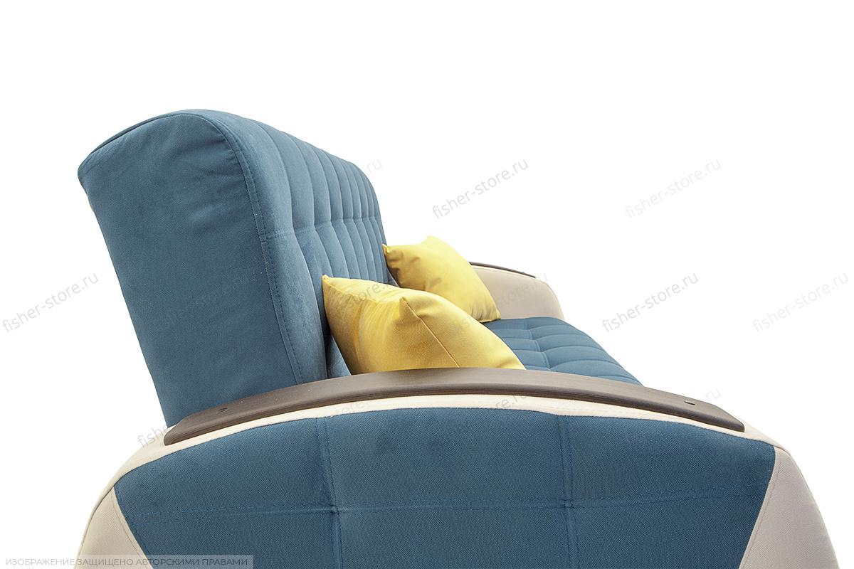 Прямой диван Вито-4 Maserati Blue + White Подушки