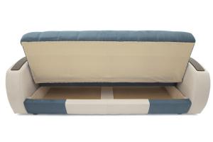 Прямой диван Вито-4 Maserati Blue + White Ящик для белья