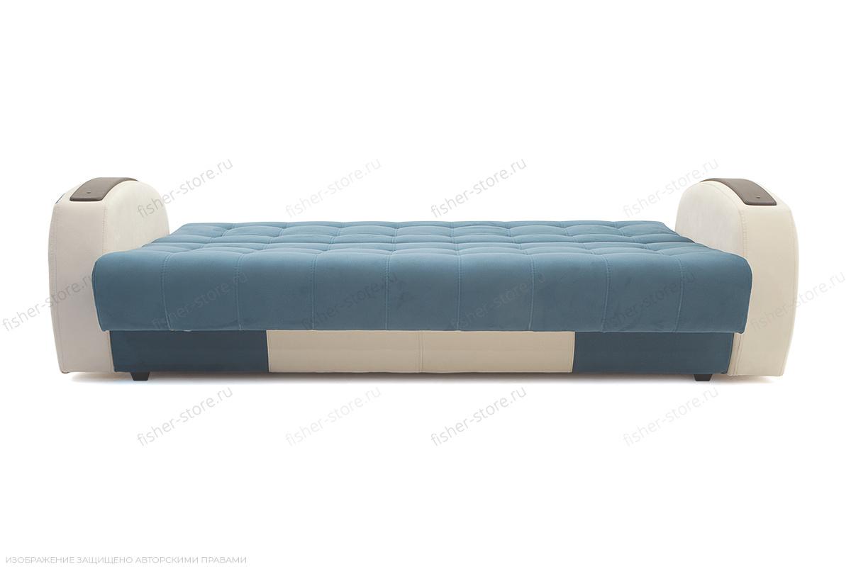 Прямой диван Вито-4 Maserati Blue + White Спальное место