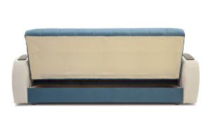 Прямой диван Вито-4 Maserati Blue + White Вид сзади