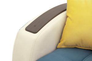 Прямой диван Вито-4 Maserati Blue + White Подлокотник