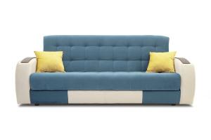 Прямой диван Вито-4 Maserati Blue + White Вид спереди
