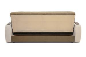 Прямой диван Вито-4 Maserati Light Brown + White Вид сзади