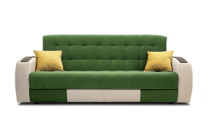 Прямой диван Вито-4 Maserati Green + White Вид спереди