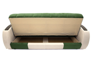 Прямой диван Вито-4 Maserati Green + White Ящик для белья
