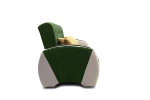 Прямой диван Вито-4 Maserati Green + White Вид сбоку
