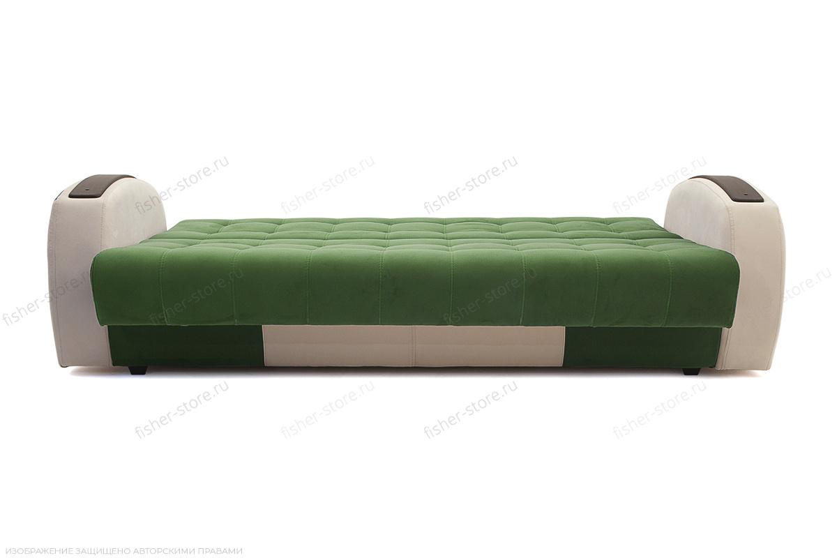 Прямой диван Вито-4 Maserati Green + White Спальное место