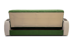 Прямой диван Вито-4 Maserati Green + White Вид сзади