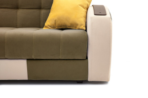Двуспальный диван Вито-4 Maserati Light Brown + White Ножки