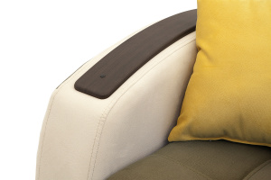 Двуспальный диван Вито-4 Maserati Light Brown + White Подлокотник