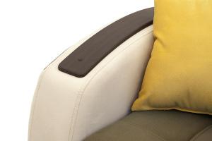 Прямой диван Вито-4 Maserati Light Brown + White Подлокотник