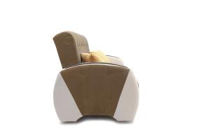 Двуспальный диван Вито-4 Maserati Light Brown + White Вид сбоку
