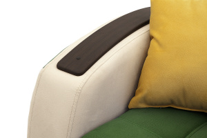 Прямой диван Вито-4 Maserati Green + White Подлокотник