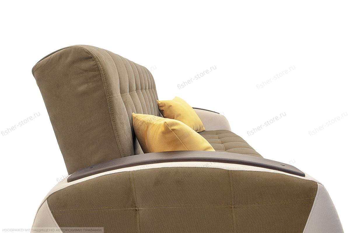 Прямой диван Вито-4 Maserati Light Brown + White Подушки