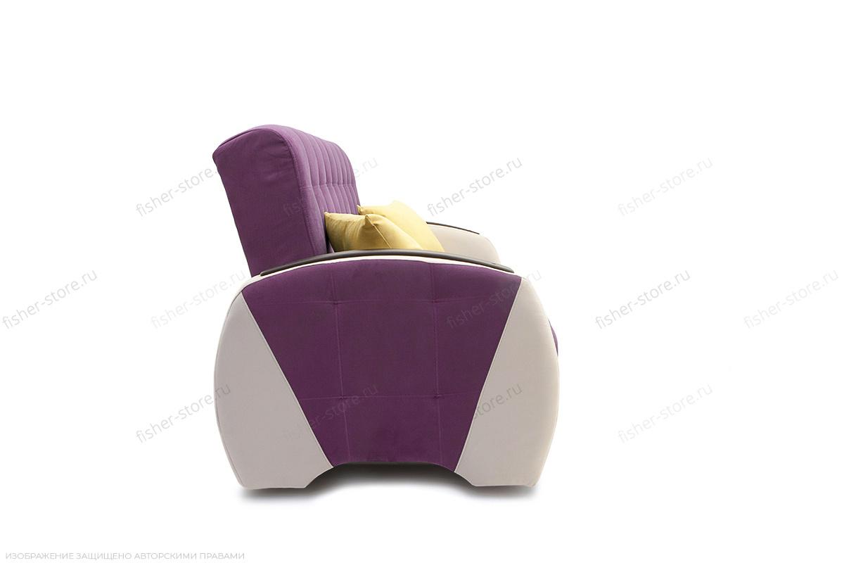 Прямой диван Вито-4 Maserati Purple + White Вид сбоку
