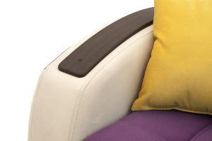 Прямой диван Вито-4 Maserati Purple + White Подлокотник