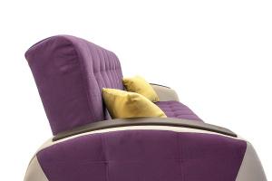 Прямой диван Вито-4 Maserati Purple + White Подушки