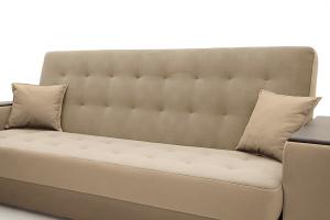 Прямой диван Берри люкс Maserati Light brown Подушки