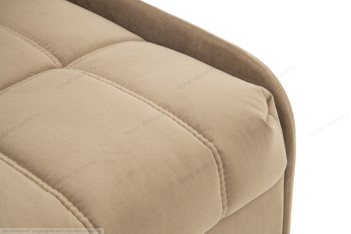 Прямой диван Виа-8 Maserati Light Brown Текстура ткани