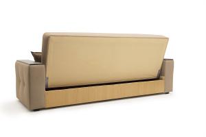 Прямой диван Берри люкс Maserati Light brown Вид сзади