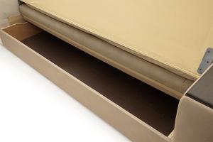 Прямой диван Берри люкс Maserati Light brown Ящик для белья