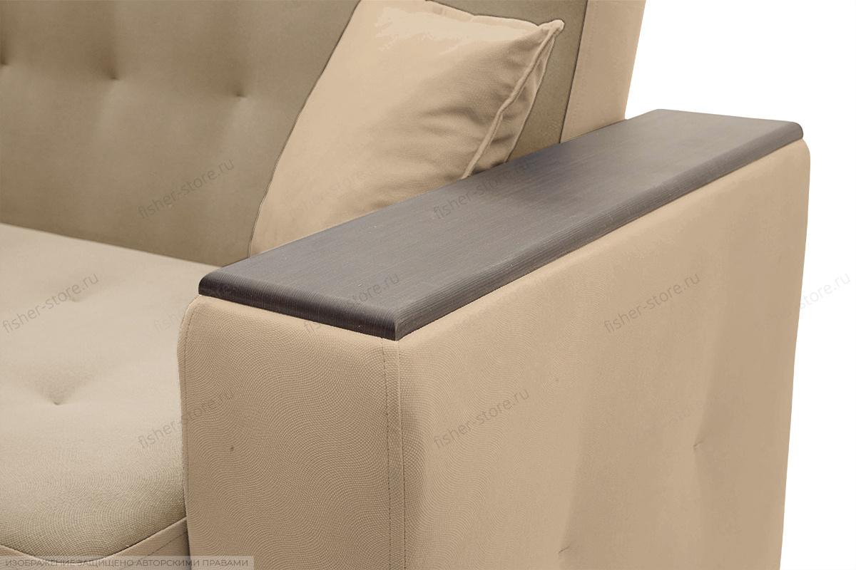 Прямой диван Берри люкс Maserati Light brown Подлокотник