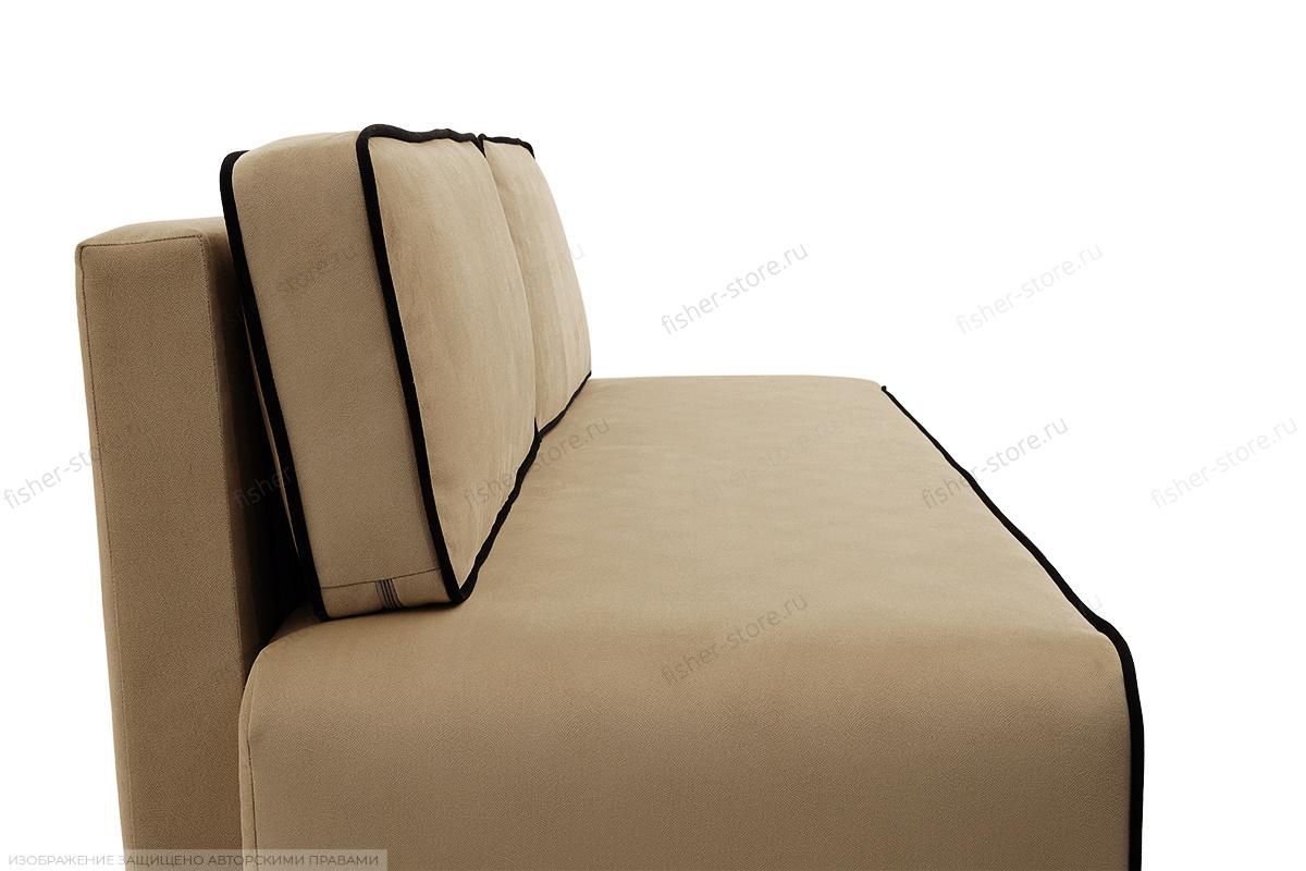Прямой диван Лаки Maserati Light Brown + Black Вид сбоку