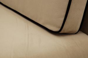 Прямой диван Лаки Maserati Light Brown + Black Текстура ткани
