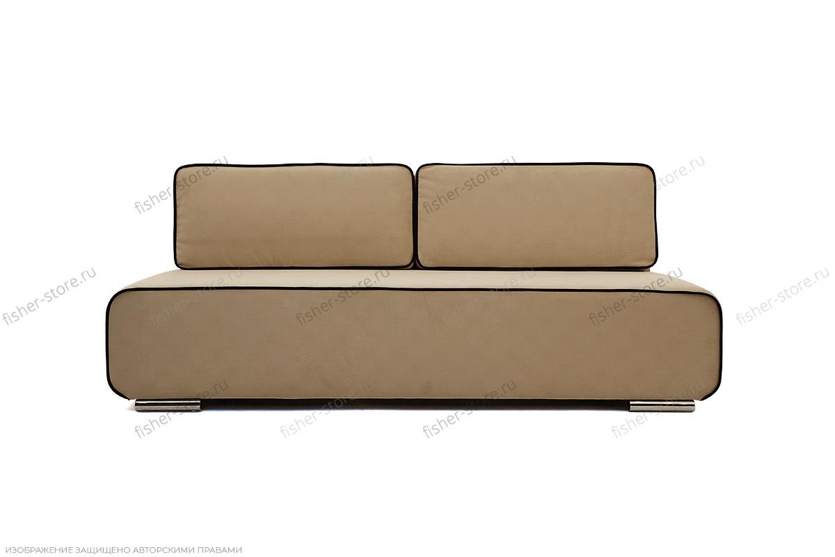 Прямой диван Лаки Maserati Light Brown + Black Вид спереди