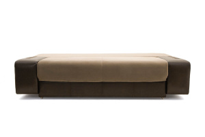 Прямой диван еврокнижка Сатурн Maserati Light brown + Sontex Umber Спальное место