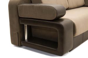 Прямой диван еврокнижка Сатурн Maserati Light brown + Sontex Umber Подлокотник