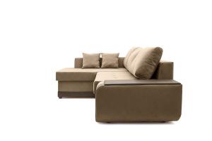 Угловой диван Нью-Йорк-2 Maserati Light brown + Sontex Umber Вид сбоку