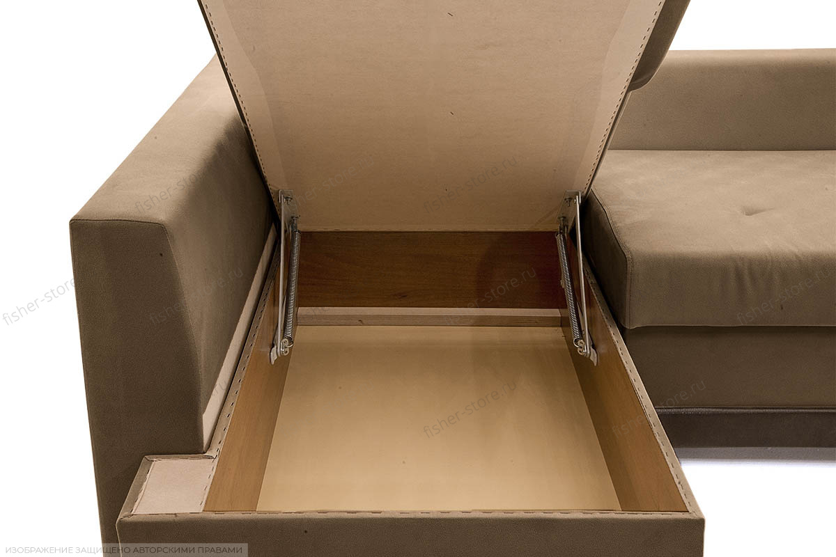 Угловой диван Нью-Йорк-2 Maserati Light brown + Sontex Umber Ящик для белья