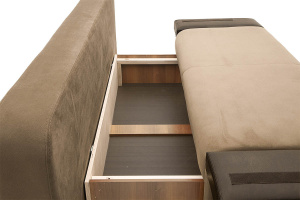 Прямой диван еврокнижка Сатурн Maserati Light brown + Sontex Umber Ящик для белья
