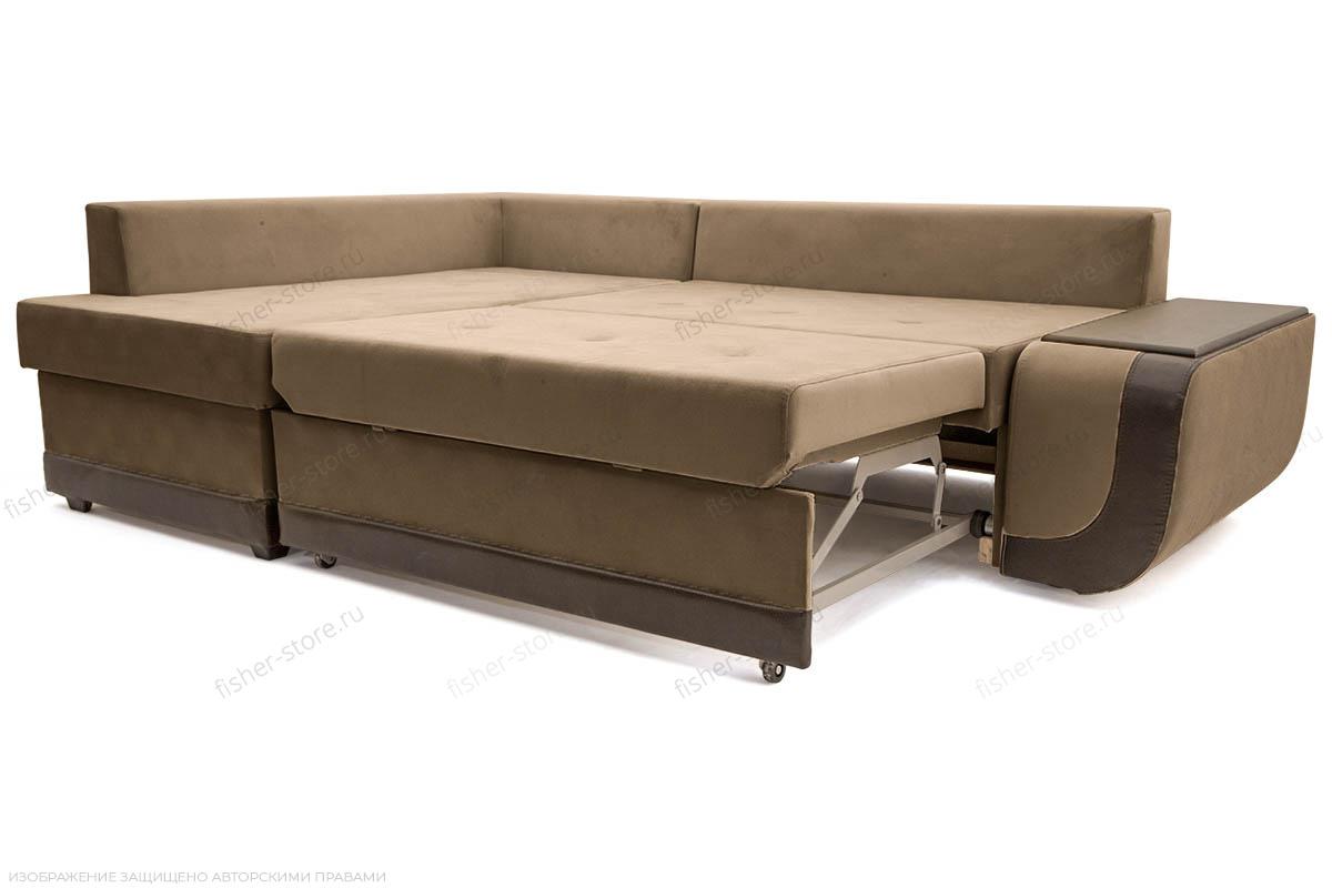 Угловой диван Нью-Йорк-2 Maserati Light brown + Sontex Umber Спальное место