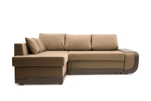 Угловой диван Нью-Йорк-2 Maserati Light brown + Sontex Umber Вид спереди