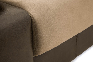 Прямой диван еврокнижка Сатурн Maserati Light brown + Sontex Umber Текстура ткани