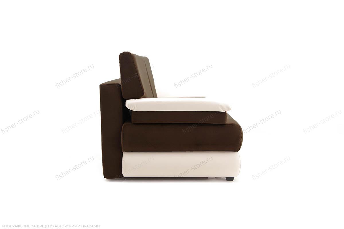 Прямой диван Фиджи Maserati Brown + White Вид сбоку
