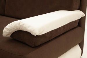 Прямой диван Фиджи Maserati Brown + White Текстура ткани