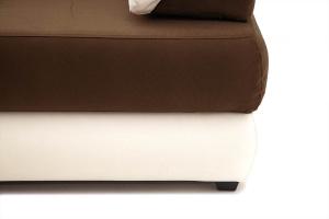 Прямой диван Фиджи Maserati Brown + White Ножки