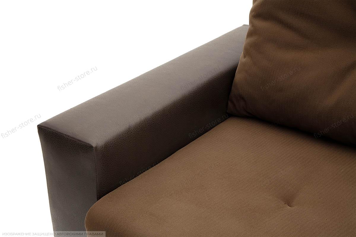 Двуспальный диван Хлоя Maserati Brown + Sontex Umber Текстура ткани