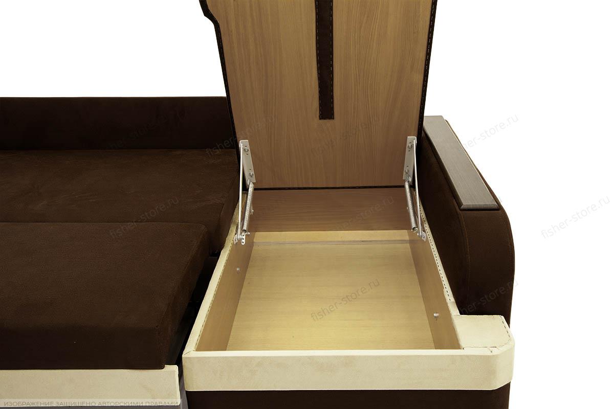 Угловой диван Парадиз Maserati Brown + Beight Ящик для белья